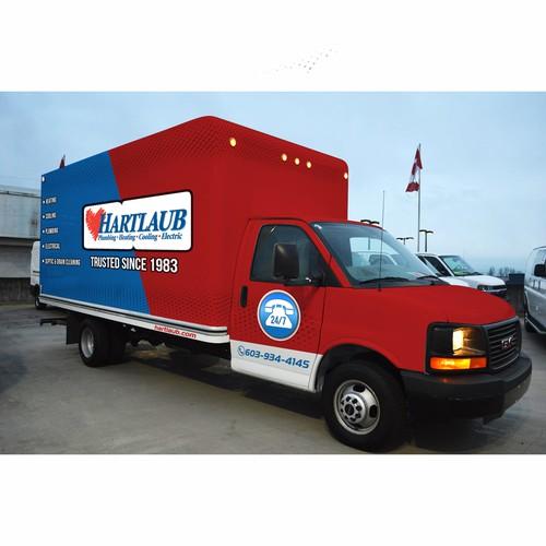 Hartlaub Truck Wrap design