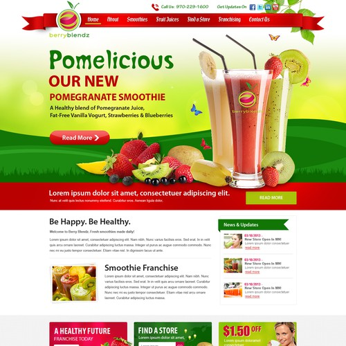New Website for Smoothie Franchise