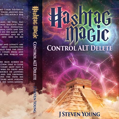 Create a captivating Fantasy Book cover For Hashtag Magic