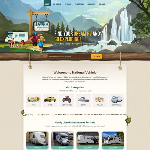 New Website Design for a Unique RV Marketing Company