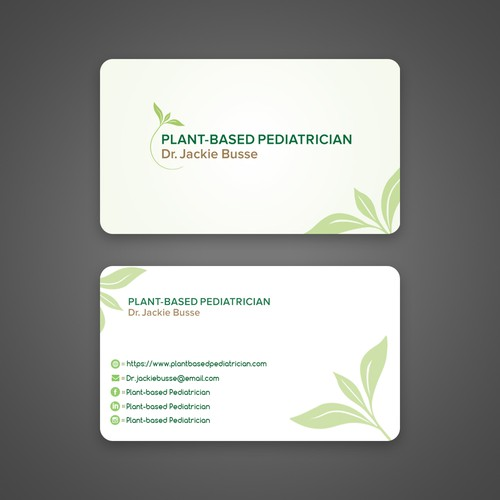 Business card concept for Plant based pediatrician