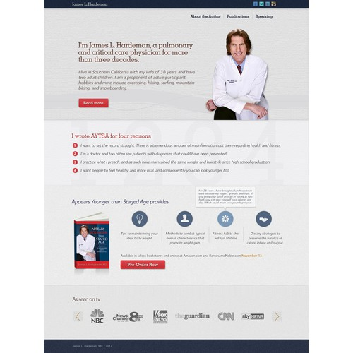 website design for James L Hardeman