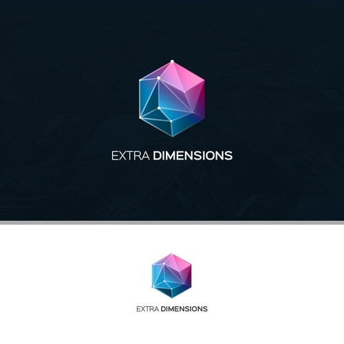 Futuristic Logo for Extra Dimensions