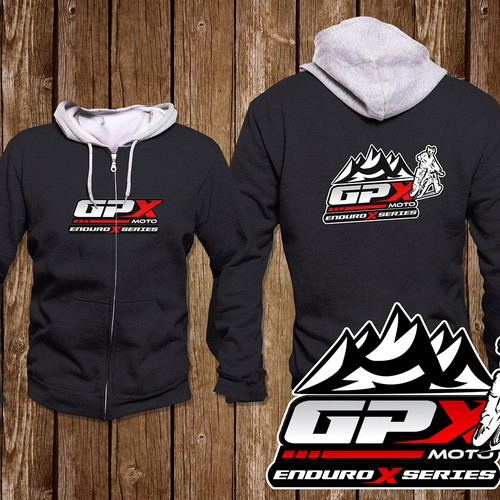 Logo design on hoodie for GPX Moto