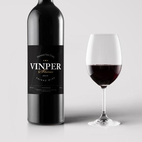 "Label Design for Australian Fine Wine ""Helanda - Vinper Wine"""