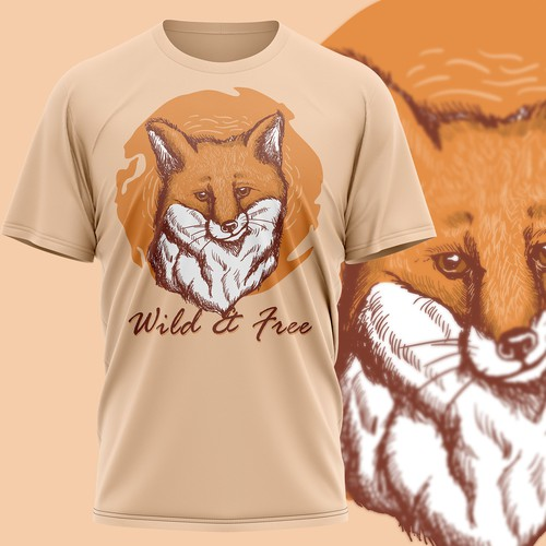 Fox motive T-Shirt Design