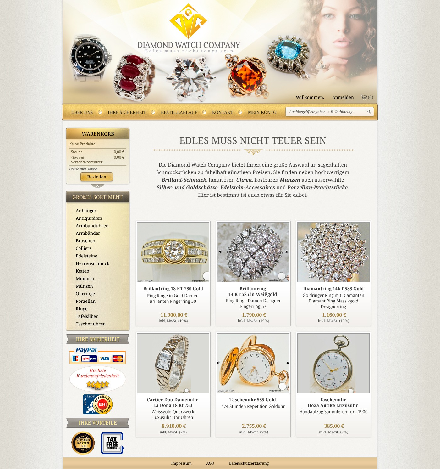 HOMEPAGE RELAUNCH Diamond Watch Company