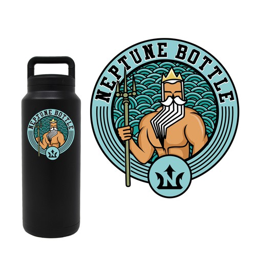 Neptune bottle sticker