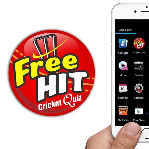 Attractive Option for Cricket Quiz App Logo