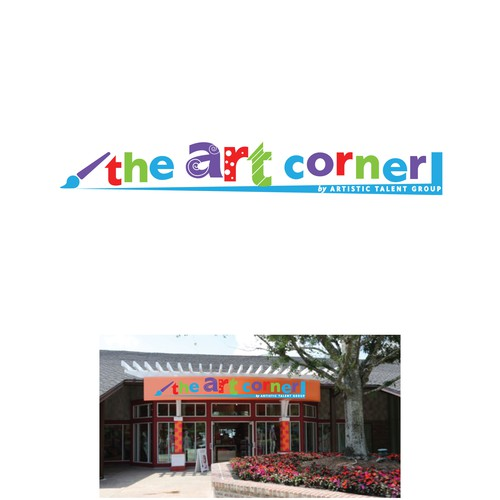 Signage for a new art store concept opening at a major theme park property!