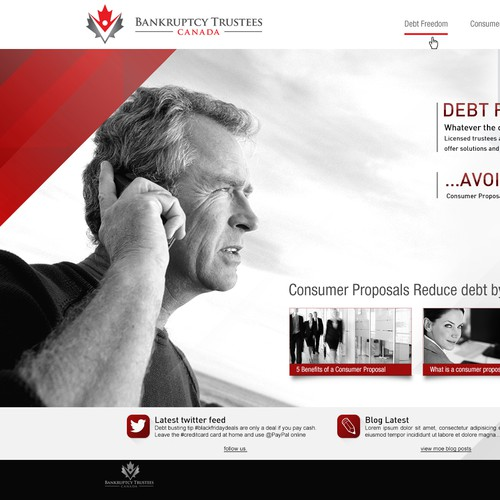 Be creative about debt.  Design my bankruptcy website