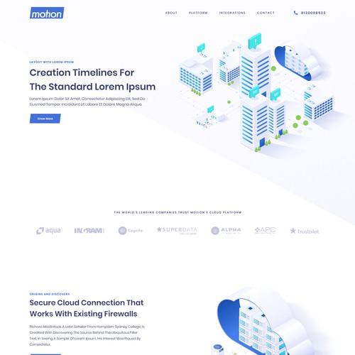 Motion Cloud Platform Website