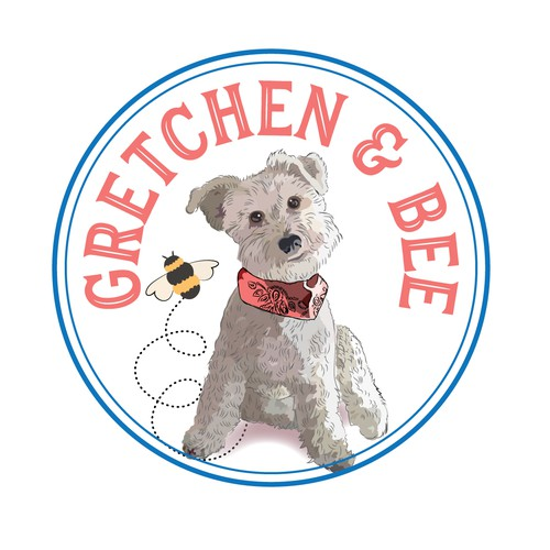 Gretchen and her pet bee.