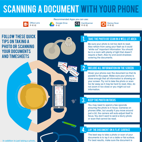 Scanning a document with your phone