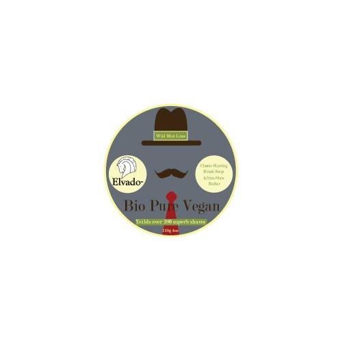 Label Re-Design to a Vintage/Retro Style for Elvado Classic Men's Shaving