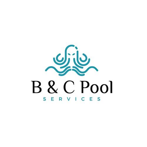 Mascot type logo with a kraken