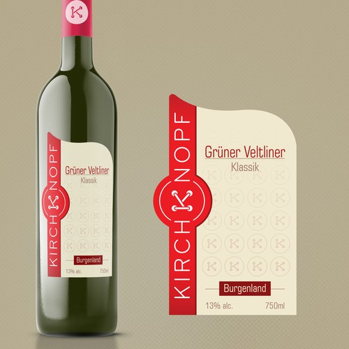 Create modern wine label with existing logo