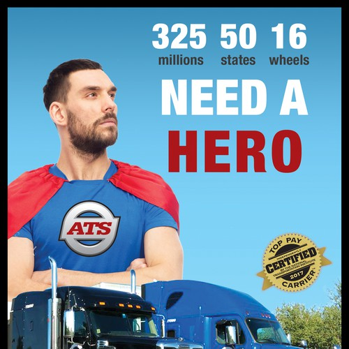 TRuck Drivers needed Poster Ad