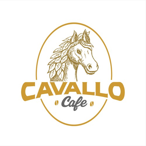 Illustration Logo For Cavallo Cafe