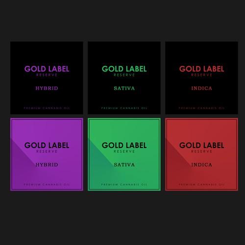 Square Label for Cannabis Vape Pen