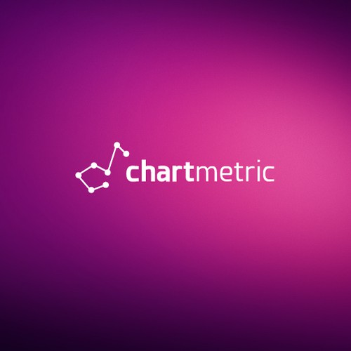 Modern elegant logo for chartmetric