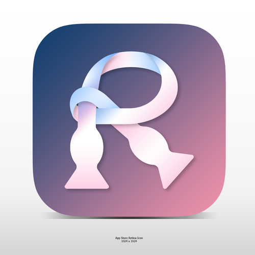 Elegant R icon for a Social App