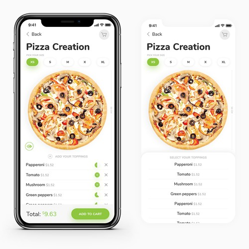 App design for PizaNow