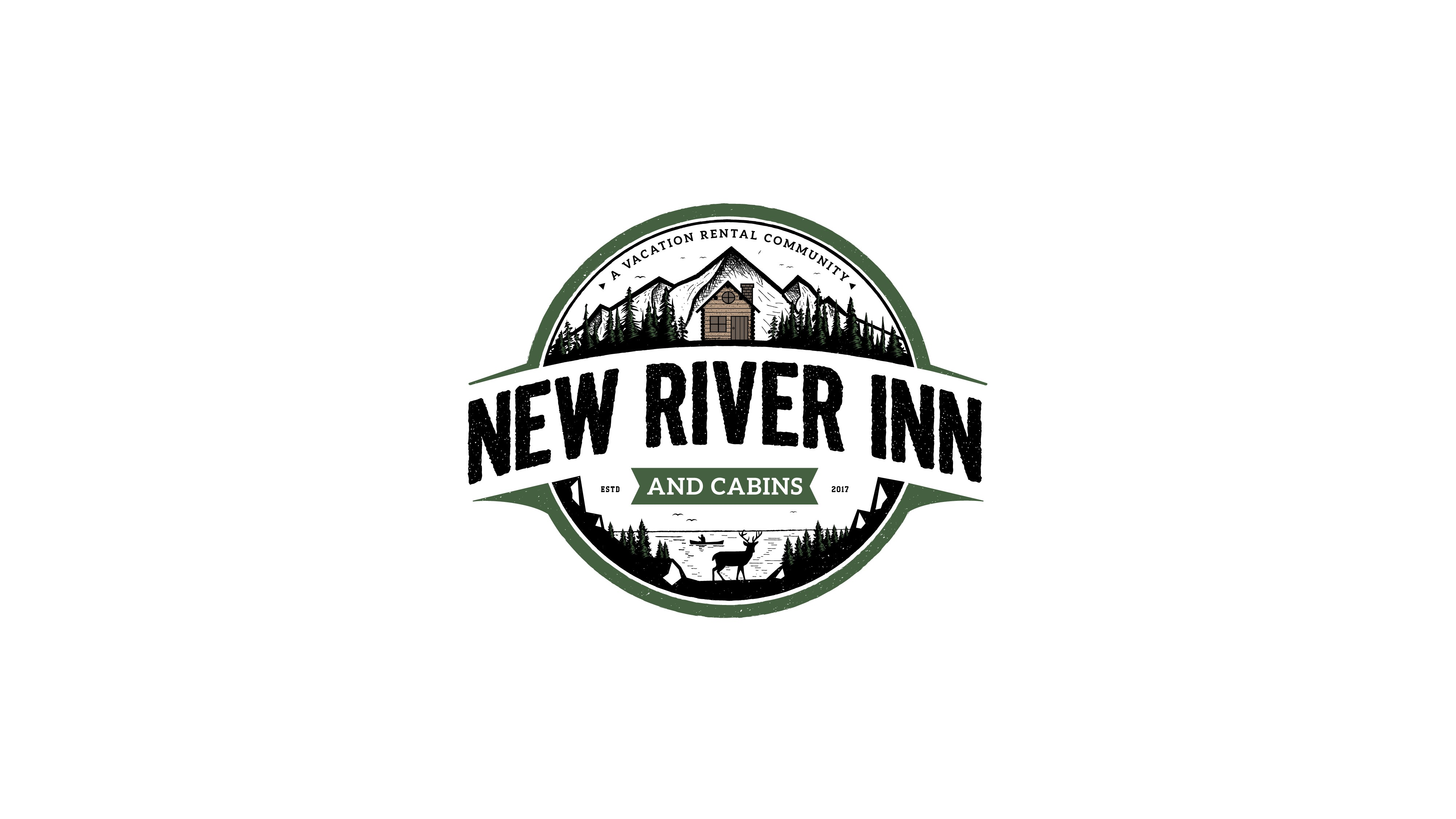 NEW RIVER INN NEEDS A WELCOMING LOGO FOR SHORT TERM MOUNTAIN VACATIONERS