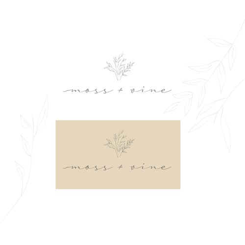 Design a earthy/organic logo for our Custom wedding floral business