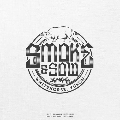 Logo proposal for Smoke & Sow
