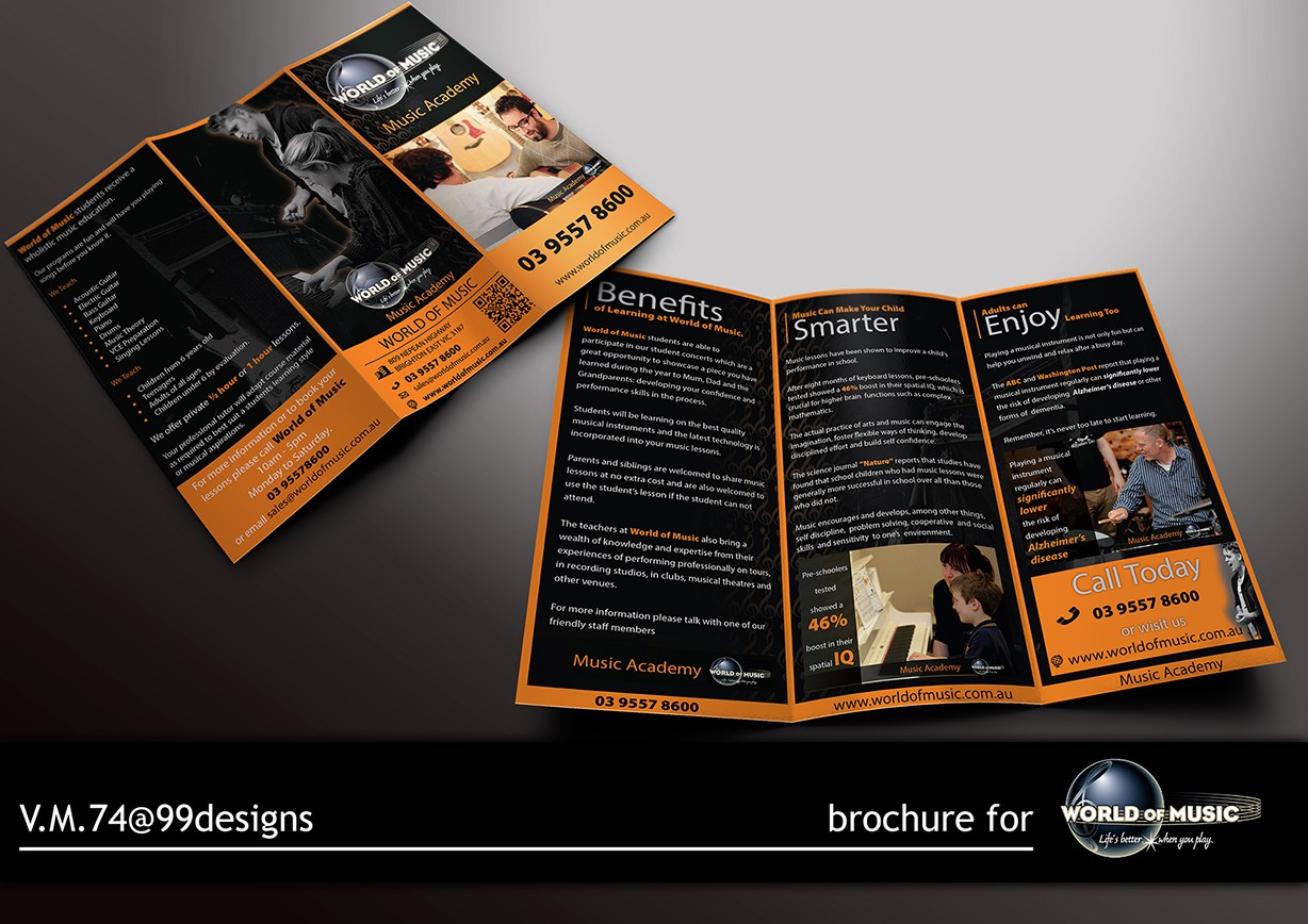 Help World of Music with a new brochure design