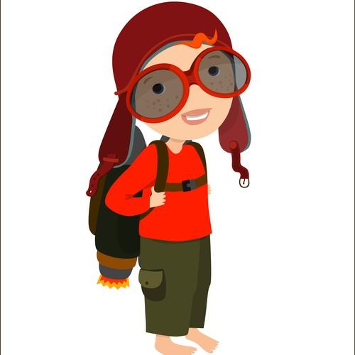 Jetpack Aviator Kid Character