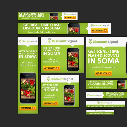 Banners needed for mobile / desktop advertising campaign for DiscountSignal