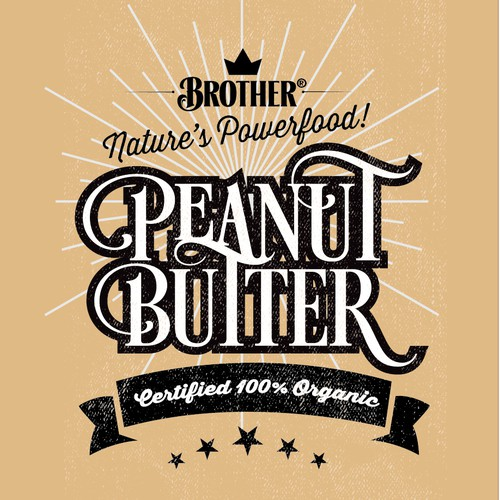peanut butter label
