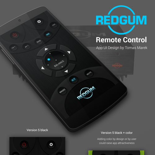 Audio device mobile remote controller UI
