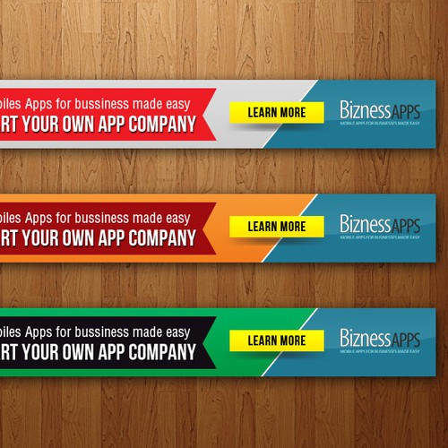 Fresh design 728 Banner for Mobile App Creation Company