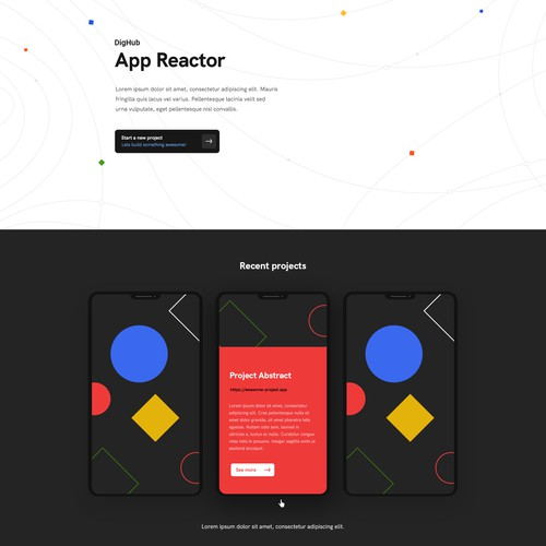 (Abstract) Landing page