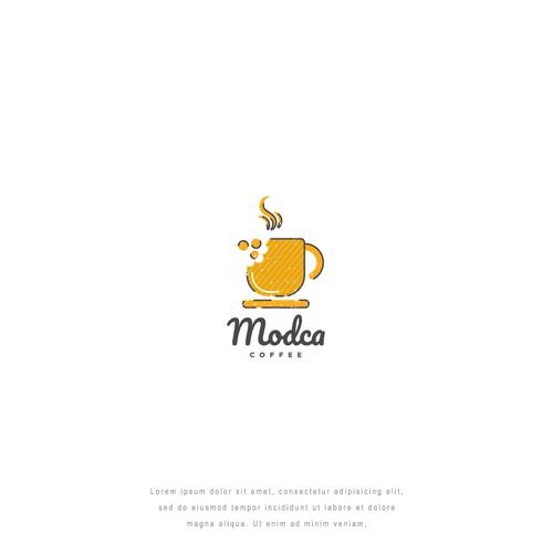 Modca Coffee and Snack Logo Design Inspiration
