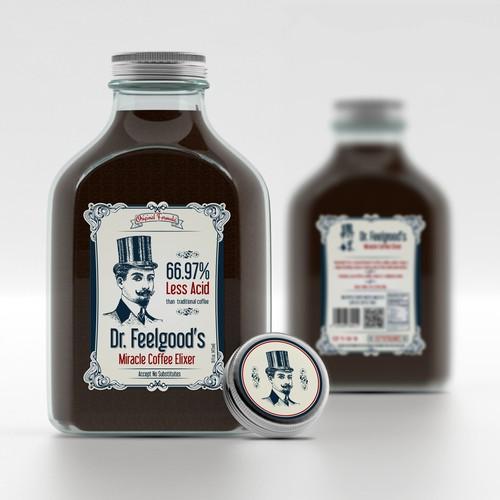 Coffee liquid  label