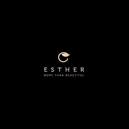 Minimal logo for Esther skin care company