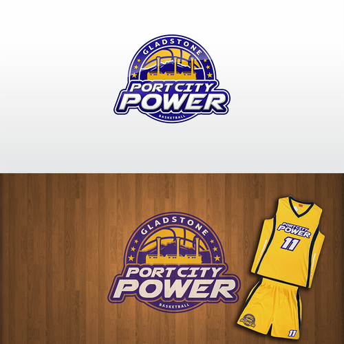 Port City Power Basketball Logo