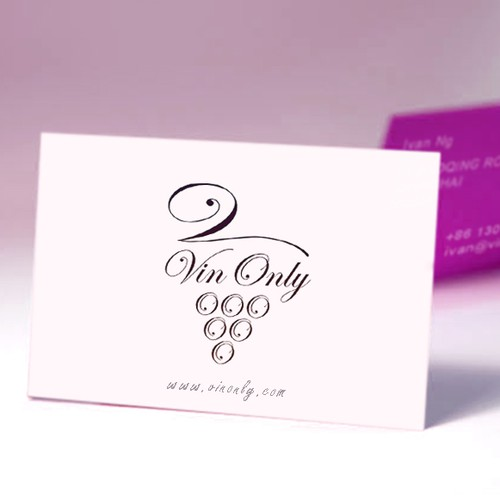 Create the next logo and business card for VinOnly