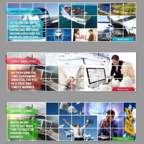Progressive B2B Website Needs Energised Banner Images