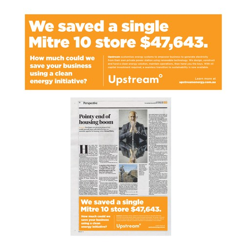 High Impact Business Newspaper Advertisement