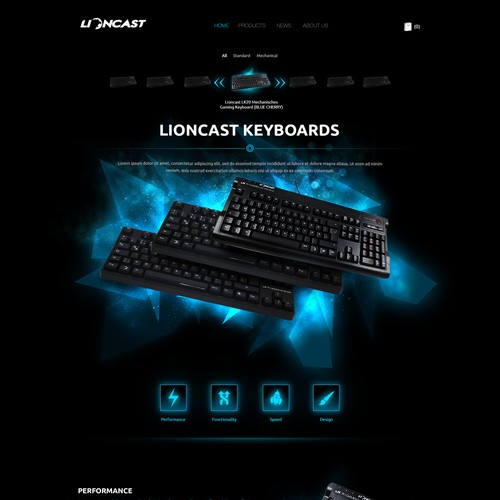 Create a Product Page and Category Page for Gaming Company