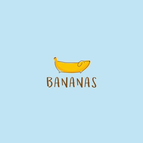 Design a child-friendly, fun logo for BANANAS