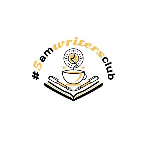 Logo for #5amwritersclub