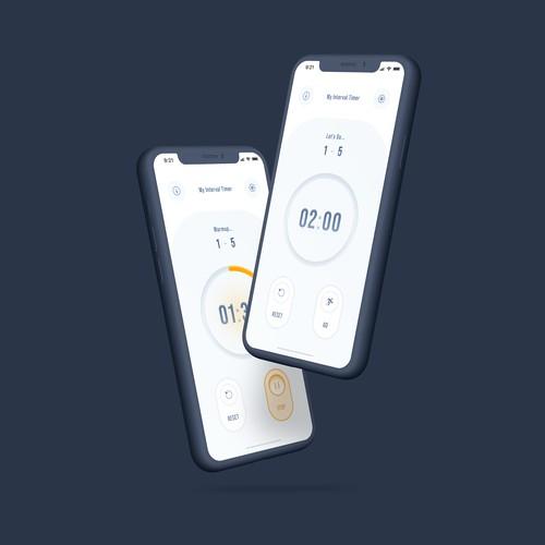 Redesign a popular fitness timer app