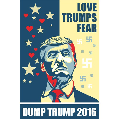 Illustration for dump trump campaign for poilitical actifies on US