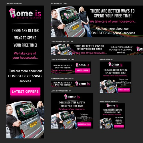 Banner ads for a Home Services company